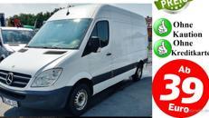 Transporter günstig mieten ab 39,-€ ohne Kaution ohne Kreditkarte