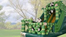 XXL Panda-Rutsche Hüpfburg Geburtstag Verleih Neumünster