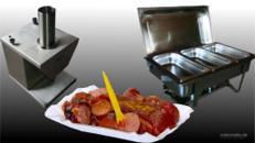Currywurstschneider mit Chafing Set, Currywurst,