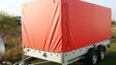 Planenanhänger Tieflader 2500 kg gebremst doppelachser  – 100 km/h
