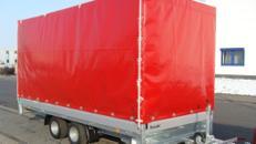 4 m Planenanhänger Hochlader 3000 kg gebremst doppelachser – 100 km/h