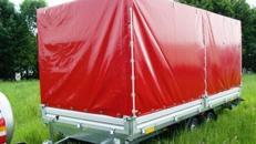 AXA 5 x 2,13 m Planenanhänger Hochlader 3500 kg gebremst doppelachser – 100 km/h