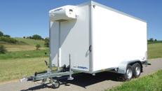Kühlanhänger 3000 kg doppelachser 3953 x 1786 x 2000 mm bis plus 2°C Kühlung – 100 km/h