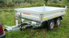 Dreiseitenkipper Hochlader 2500 kg gebremst E-Pumpe + Handpumpe 100 km/h