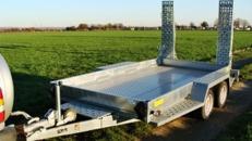 Tieflader 3.500 kg gebremst / doppelachser / Ladekante 340 mm 100 km/h