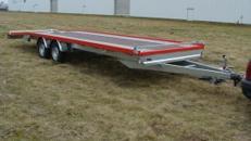 2er PKW Transporter 8 m doppelachser 3500 kg gebremst mit Seilwinde /  100 km/h