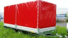 Geschlossener 5 m PKW Transportanhänger 3500 kg Planenanhänger Hochlader   100 km/h