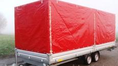 Geschlossener 6 m PKW Transportanhänger 3500 kg Planenanhänger Hochlader   100 km/h