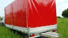 Geschlossener 5er Motorradanhänger 3500 kg Hochlader gebremst – 100 km/h
