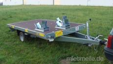 3er Motorradanhänger 1500 kg gebremst mit Stoßdämpfern /  extra breit – 100 km/h