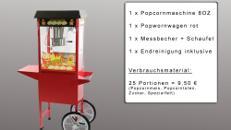 Popcornmaschine mieten - Popcornwagen mieten