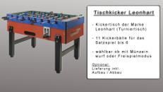 Kickertisch mieten - Kicker mieten - Tischfussball mieten