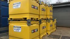 Mobiler Heizöl/Diesel Tank (IBC) 950 Liter