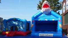 Hüpfburg Meereswelt weißer Hai mieten in Kiel