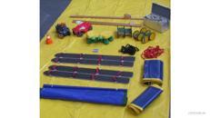 Wettkampfgerätepaket / Stelzen / Bobbycar / Pedalo / Rasenski / Manschaftsbänder / Stoppuhr / Hütchen / Laufraupen / Laufschildkröten / fliegender Teppich
