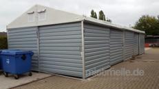 15x6m Lagerzelt mit Trapezblech und 1x Rolltor Bauzelt