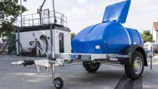 Wassertankanhänger 1100l mobiler Wassertank auf Anhänger