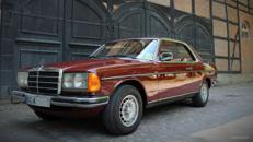 Stilvolles Hochzeitsauto aus den 80igern, Mercedes W123 Coupe