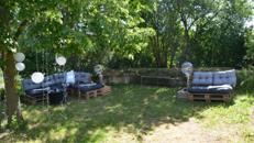 Pallettenmöbel und Pallettenlounges