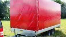 Planenanhänger Hochlader 3000 kg gebremst doppelachser – 100 km/h