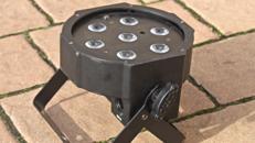 LED Scheinwerfer Partybeleuchtung Floorspot Flat PAR CAN 7x3W