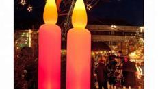 aufblasbare Kerzen 2,50m bzw. 5,00m hoch !