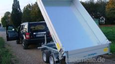 Rückwärtskipper Hochlader 2700 kg gebremst Handpumpe / 100 km/h