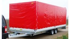 TITAN Plane Planenanhänger Hochlader 3500 kg gebremst doppelachser / GIGALINER – 100 km/h