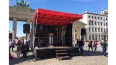 Mobile Bühne 14m² - Multistage für Stadtfest, Events, Festivals & Konzert (auch als FOH)