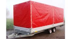 ATLAS Car Geschlossener 6 m PKW Transportanhänger 3500 kg Planenanhänger Hochlader  100 km/h