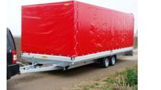 TITAN Car Geschlossener 6 m PKW Transportanhänger 3500 kg Planenanhänger Hochlader  100 km/h