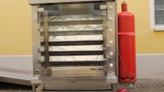 KSF-Hähnchengrill – Propangasausführung Horizontalgrill inkl. 11 Langgabeln mit Verschlüsse - Leistung ca. 27 KW