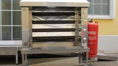 KSF-Hähnchengrill – Propangasausführung Horizontalgrill inkl. 7 Langgabeln mit Verschlüsse - Leistung ca. 18 KW