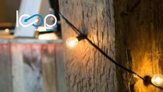 BULB-Lichterkette // Gartenbeleuchtung // Party // E40 // warmweiß