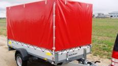 Mittlerer Planenanhänger gebremst 1300 kg 100 km/h 3010 x 1530 x 1600 mm