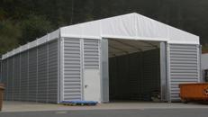 Lagerhallenzelt Spannweite 15 m Seitenlänge variabel