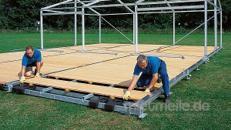 Holzfußboden mit Stahlunterbau 10 x 10/15/20/25/... m