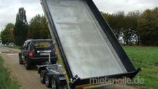 Millenium (Dreiachser Luxusversion)  Dreiseitenkipper Dreiachser Hochlader 3500 kg gebremst E-Pumpe + Handpumpe H-Gestell Ladeflächenbeleuchtung – 100 km/h