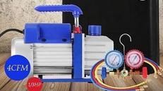 Eine einstufige Vakuumpumpe mit Monteurhilfe zur Evakuierung von Split-Klimaanlagen zu mieten