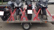 Vermiete Anhänger für bis zu 4 Motorräder und Fahrzeuige bis 1230 kg