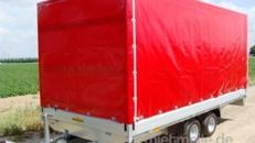 Planenanhänger Hochlader 2500 kg gebremst doppelachser – 100 km/h