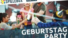 Spielebox - Geburtstagsfeier. Starten Sie mit Freunden gemeinsam in Ihr neues Lebensjahr.