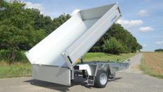 Rückwärtskipper günstig mieten zum Bestpreis 1500 kg 2690 x 1550 x 330 auch mit Laubgitter