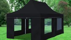 Falt-Pavillon 3x6 Meter | Schwarz | Zelt | Partyzelt