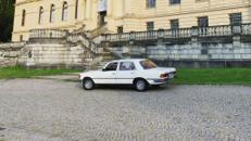 Mercedes Benz W116 350SEL weiß, Leder rot, Limosine