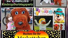 Unser WABBELINO-Maskottchen bringt die Geburtstagstorte