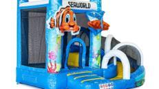 Hüpfburg Mini mit Rutsche Seaworld