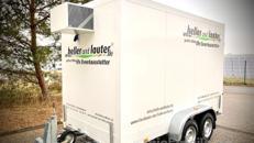 Kühlanhänger mieten / Kühlwagen / Mobile Kühlzelle / Getränkekühler Typ: ISOPOLAR 2,7t