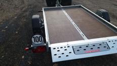 Vermiete Motorradanhänger für 1 - 2 Motorräder mit 100km/h Zulassung