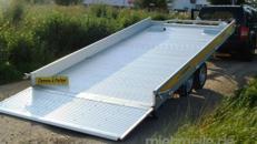 STUFFI 21 (Doppelachser)  Hochlader 3.500 kg kippbar / doppelachser mit durchgehender Laderampe, Aluprofilboden mit Anfahrschutz, Windenstand mit Seilwinde für Gabelstapler und Dre